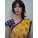 Yellow Saree with Maroon Boarder Pallu
