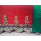 Red Green Border Gold Design