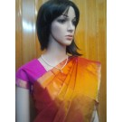 Yellow and Purple Uppada Saree