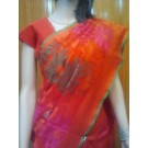 Orange Banaras Tissue Net Saree