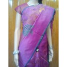 Purple Banaras Tissue Net Saree