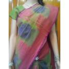 Pink Banaras Tissue Net Saree